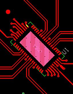 QFN封装PCB设计TOP层走线
